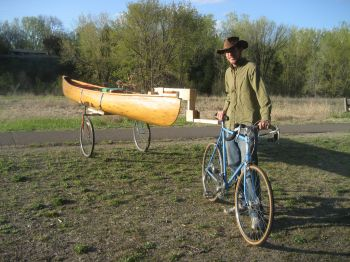 Adam with Bike and Trailer