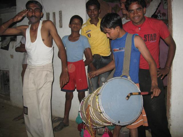 kid with drum